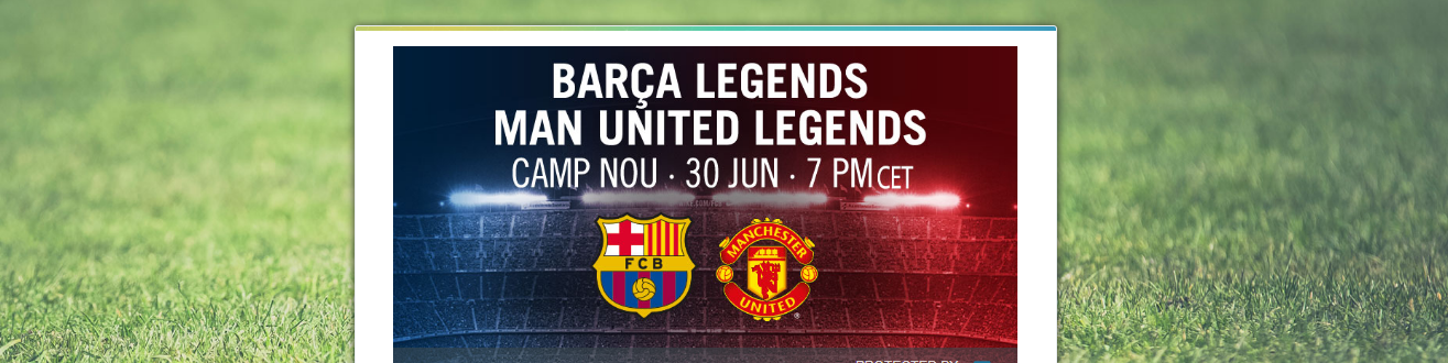 Barça Legends vs. Man United Legends Comes to You on PPV - InPlayer Paywall