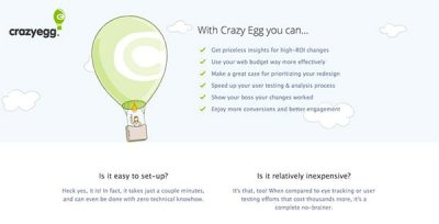 Crazy Egg Marketing Automation Tool