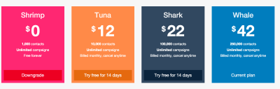 Pricing Page Tactics Email Octopus