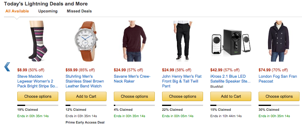 Pricing Page Tactics Amazon Urgency